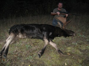 Sean Hines with his third moose. Still a meat hunter. Oct. 2013